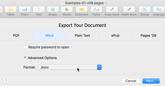 how to export as pdf word mac